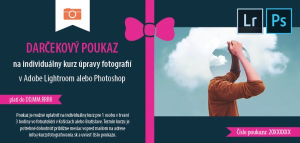 Individuálny kurz Adobe Lightroom/Photoshop